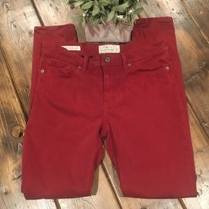 Lucky Brand Brooke Legging Jean in Red Size 28/6